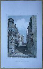 1848 print MALTA: ST. JOHN STREET, VALLETTA (#9)