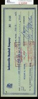 Bill Terry Jsa Authenticated Signed Check Autograph