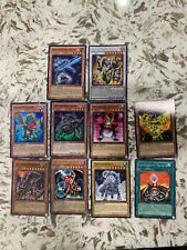 Yugioh Trading Card Collection. 10 Cards With Mcdonalds White-Horned-Dragon. LP