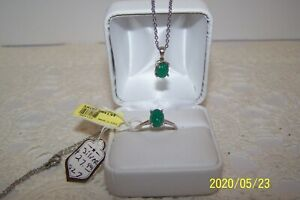 A Jewelry set with size 7 Silver ring, Silver Pendant and Steel chain Chalcedony