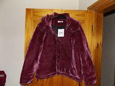 BNWT Glamorous pink velvet hooded puffa jacket size 14