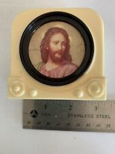New ListingVintage Mid Century Plastic Television Tv Bank w/ Jesus On Screen