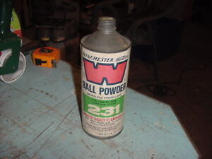 VINTAGE WINCHESTER CONE TOP MT CAN PAPER LABEL BALL POWDER 1 LB CAN 231 50s 60s