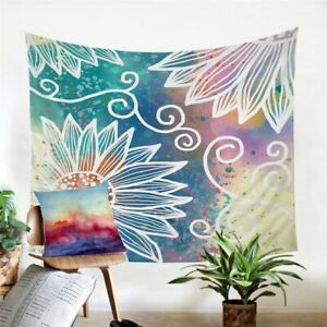 Daisy Floral Mandala Boho Wall Tapestry Hanging Throw Cover Home Room Decoration