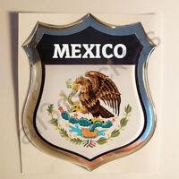 Pegatina Mexico Escudo de Armas 3D Emblema Vinilo Adhesivo Resina Relieve Coche