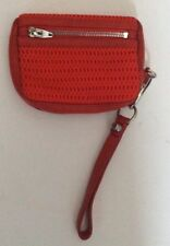 Alexander Wang $225 Orangish Red Fumo Perforated Wristlet