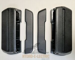 NEW 1968-1972 Buick Skylark Front Arm Rest Base & Pad Set- Black- Pair