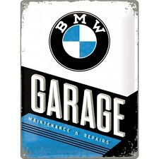 BMW GARAGE * SERVICE WERKSTATT * AUTO * REPARATUR * BLECHSCHILD * 30X40 * NEU!