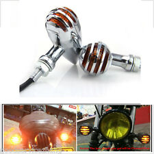Chrome Motorcycle Bullet Turn Signal Indicator Light For Chopper Blinker