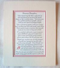 DAUGHTER Precious DEAREST Treasure DELIGHT My Heart LOVE U verses poems plaques