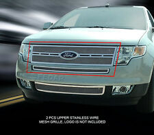 For 07-10 Ford Edge Stainless Wire Mesh Grille Grill Combo Insert Fedar