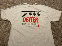 DEXTER rare official lighting crew promo t-shirt Adult XL Showtime serial killer