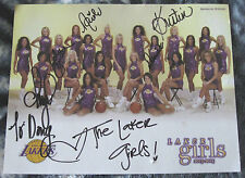 Laker Girls 2003-2004  8 1/2 x 11 autographed picture