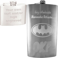 64 oz Personalized Hip Flask - Your Text/Logo Custom Engraved - Gift, Weddings