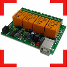 USB Relay Board - Four(4) Channels, for Home Automation JQC-3FC/T7 DC5V