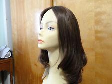 Malky Wig Sheitel European Hair Multidirectional Wig Medium Brown /Highlights