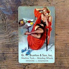 1 Vintage Original Old ELVGREN REMEMBERANCE PINUP GIRL Playing Card NOS Unused
