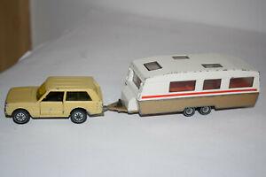SIKU Wohnwagengespann Range Rover 1338/41 + WW 2518, Auto Konvolut GERMANY  TOP