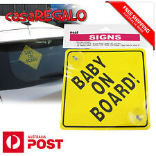1pc Baby on Board Sign Window Safe Suction Hard Plastic