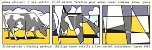 ROY LICHTENSTEIN Cow Going Abstract 13.25 x 39.25 Poster 1985 Pop Art Italian