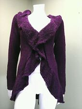 Effortless Style Purple Frilled Cardigan~Size XS
