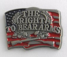 THE RIGHT BEAR ARMS 2ND AMENDMENT LAPEL PIN BADGE 1 INCH