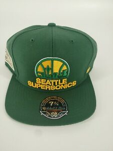 RARE 7 5/8 Seattle SuperSonics Snap Back Hat Hardwood Classic Mitchell and Ness.