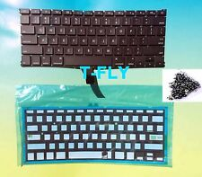 "New OEM Apple MacBook Air 13"" A1369 A1466 2011-2015 Keyboard + Backlight + Screw"