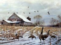 """Jim Killen """"Country - Canada Geese""""  Limited Edition Print Signed COA Mat/Framed"""