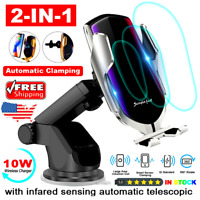 Wireless Automatic Clamping Smart Sensor Car Phone Holder and Fast Charger 10W