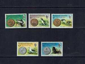 Falkland Islands: 1975 New Decimal Coinage MNH set