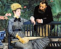 "Superb Quality 10x8"" Art Print In The Conservatory (1879) by Édouard Manet"