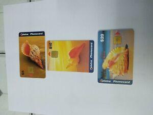 Telstra Phonecards Shells X3