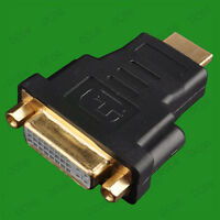 DVI DVI-I 24+5 Female to Standard HDMI Male Adapter for Graphic Card Video