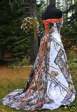 NEW Camo Wedding Gown, MOSSY OAK or Truetimber SATIN camo- MADE ONLY IN USA!