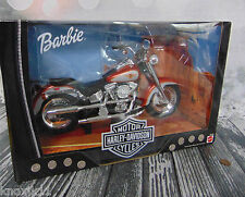 "NEW 1999 Barbie Doll HARLEY DAVIDSON MOTORCYCLE 14"" Fat Boy #1 Two-Tone Bike MIB"