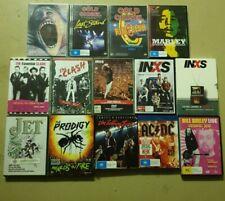 DVDs Live Rock, Documentaries Pink Floyd Rolling Stones AC/DC INXS Bob Marley