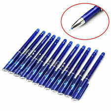 12pcs 0.5mm Erasable Pen Black Gel Ink Pens Set School Kid Students Stationery