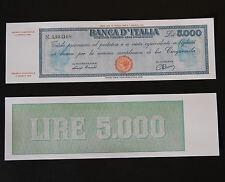 RIPRODUZ. 5000 LIRE TITOLO PROVVISORIO TESTINA LUOGOTENENZA FDS 5.000 ITALY LIRA