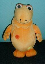 Doudou Peluche Casimir L'île Aux Enfants Orange Noir Pois Tomy 2002 25 cms TTBE