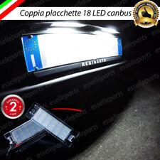 COPPIA PLACCHETTE A LED LUCI TARGA 18 LED OPEL ASTRA J CANBUS NO AVARIA BIANCO