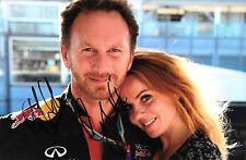 Christian Horner & Geri Halliwell SIGNED  Portrait ,Red Bull Team Principal 2015