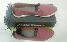 New Eddie Bauer Might Women Red Canvas Slip Shoes 9