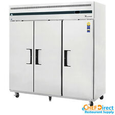"Everest ESF3 75"" 3 Door Reach-in Freezer"