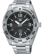 Seiko 5 Sports SRPB79 Men's Stainless Steel Black Dial 100M Automatic Watch