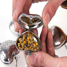 High Heart Stainless Steel Tea Leaf Filter Herbal Spice Infuser Strainer Spoon
