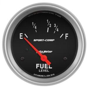 "Auto Meter 3518 Fuel Level Gauge; 2 5/8""; 16Oe To 158Of; Elec; Sport-Comp NEW"