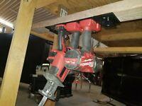 10x Heavy Duty Milwaukee M18 Power Tool Slide-On Slot Storage Mount  Holder