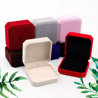 Velvet Jewelry Box Ring Earrings Necklace Set Showcase Square Jewelry Box DP/