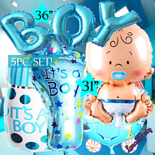 Baby Boy Shower Balloons Its a Prince 1st Newborn First stroller Party Birthday